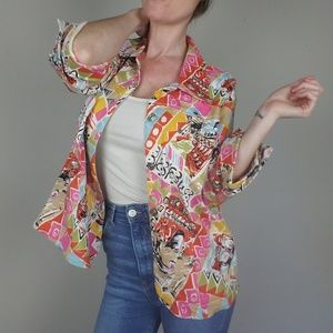 Vintage Italy Inspired Blazer Mirror Image A0411